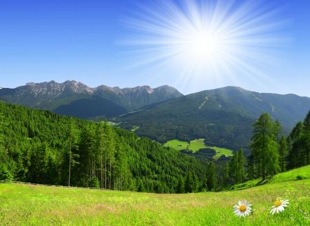 tyrol: Beautiful mountain scenery, Bruneck, Italy Alps