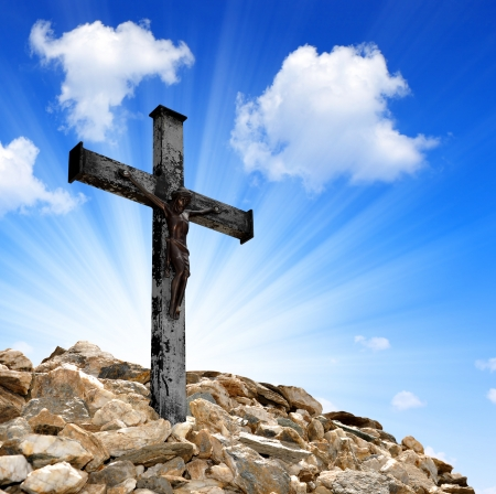 glory: Jesus Christ on The Cross  Stock Photo