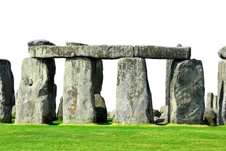 celts: Historical monument Stonehenge isolated on white