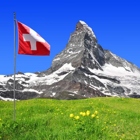 swiss alps: Piękne mocowanie Matterhorn - Alpy szwajcarskie