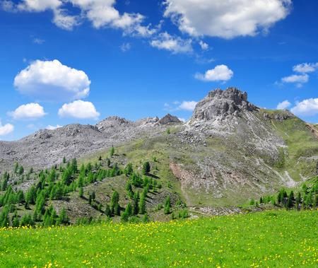 fassa: Val di Fassa, Italy Alps Stock Photo