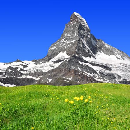 Schöne Berg Matterhorn - Schweizer Alpen