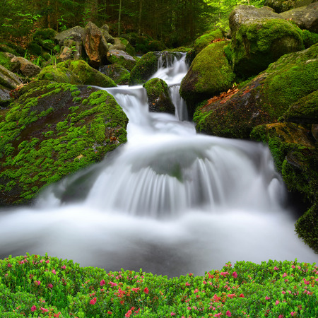nant: Waterfall in the national park Sumava-Czech Republic