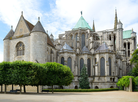 chartres: Cathedral of Chartres   France  Stock Photo