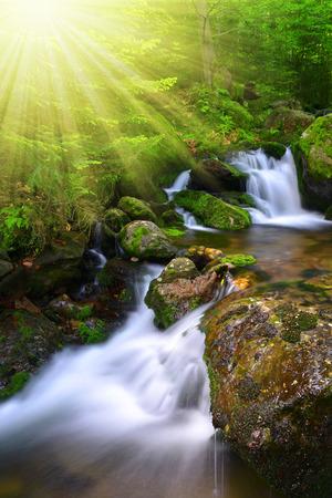 beck: Waterfall in the national park Sumava-Czech Republic