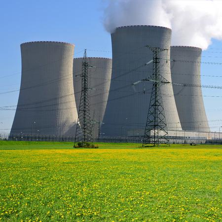 nuclear reactor: Nuclear power plant Temelin in Czech Republic Stock Photo