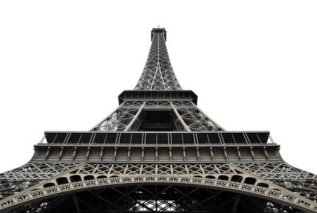 eifel: Eifel Tower on white background