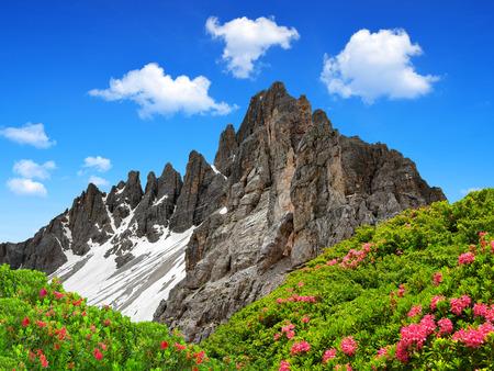 dolomite: Paternkofel , Dolomite Alps , Italy Stock Photo