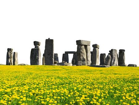 stonehenge: Historical monument Stonehenge on white background