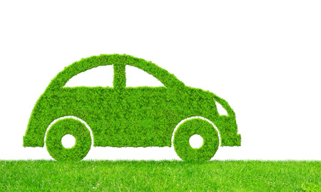 eco car on white background