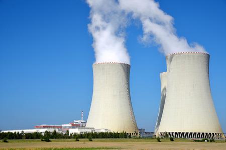 power symbol: Nuclear power plant Temelin in Czech Republic Europe