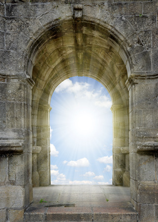 el cielo: Puerta al cielo Foto de archivo