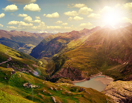 tauern: Beautiful landscape with Alps in park Stock Photo