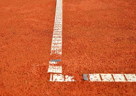 tennis clay: Tennis clay court close up