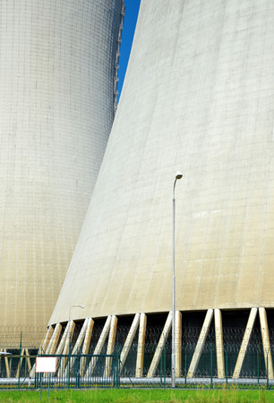 nuclear plant: Closeup the chimneys of nuclear power plant Temelin in Czech Republic, Europe