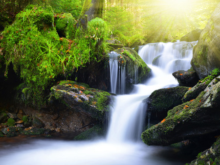 cataract waterfall: Waterfall in the national park Sumava-Czech Republic