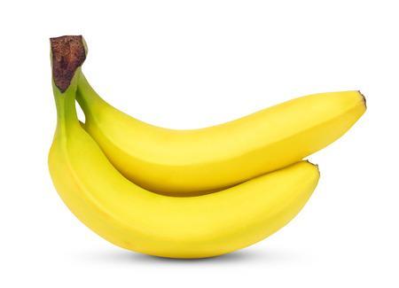 banane: bananes isol�s sur fond blanc