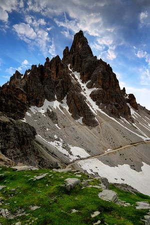 dolomite: Paternkofel at sunset, Dolomite Alps,Italy