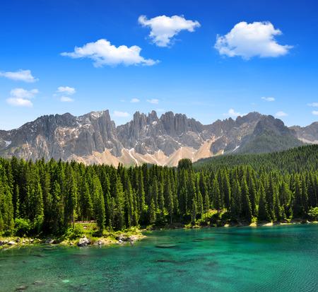 fassa: Carezza lake, Val di fassa, Dolomites, Alps, Italy
