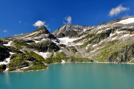 tauern: Weisssee, White Lake in National park Hohe Tauern - Austrian Alps, Austria, Europe Stock Photo