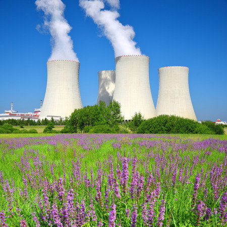 nuclear power plant: Nuclear power plant Temelin in Czech Republic, Europe Stock Photo