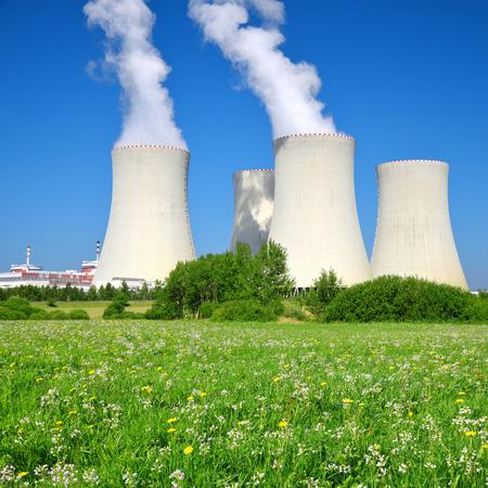 Nuclear waste: Nuclear power plant Temelin in Czech Republic Europe