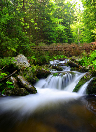 nant: Waterfall in the national park Sumava-Czech Republic