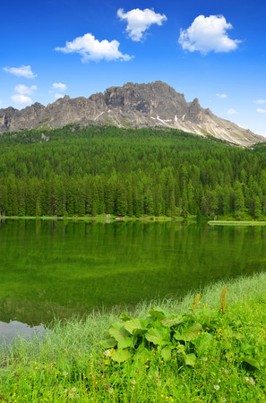 lake misurina: Lake Misurina  - Dolomites, Italy Stock Photo