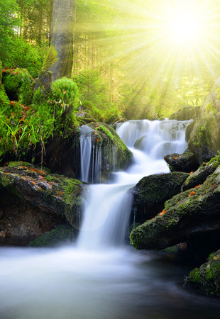 waterfall: Waterfall in the national park Sumava-Czech Republic