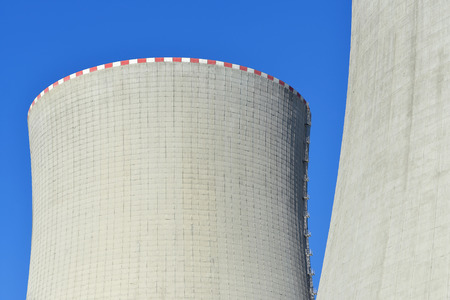 cooling towers: Close-up of the cooling towers of the nuclear power plant Temelin - Czech Republic