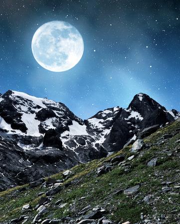 fassa: Marmolada peak in Val di Fassa  Italy Alps