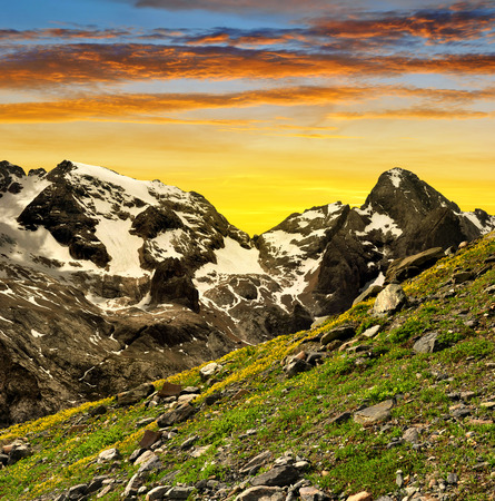 clearness: Marmolada peak at sunset ,Val di Fassa - Italy Alps