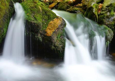 nant: Waterfall in the national park SumavaCzech Republic Stock Photo