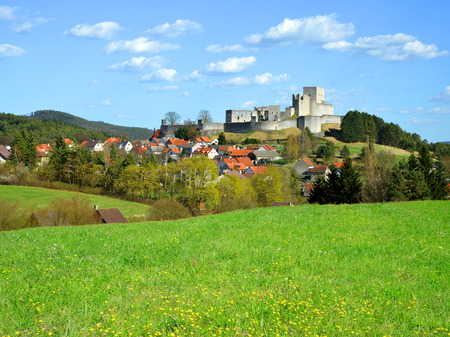 rabi: Medieval Stone Castle Ruins Rabi  Czech Republic Stock Photo
