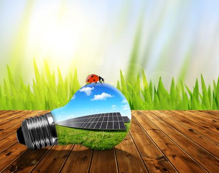alternativ: Solar panels in light bulb