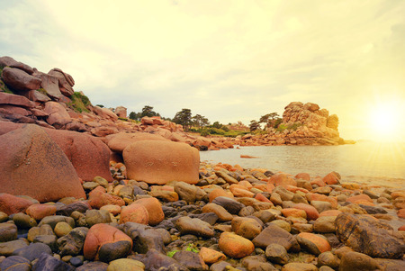 Ploumanach Pink Granite Coast Brittany France