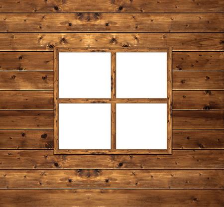 exterior shape: Wooden window