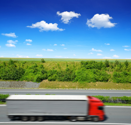 freight forwarding: Truck on the highway.