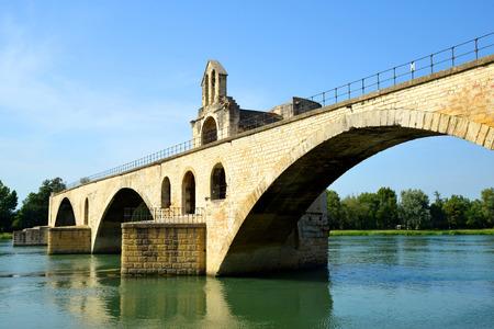 avignon: Pont Saint-Benezet in Avignon, France Stock Photo