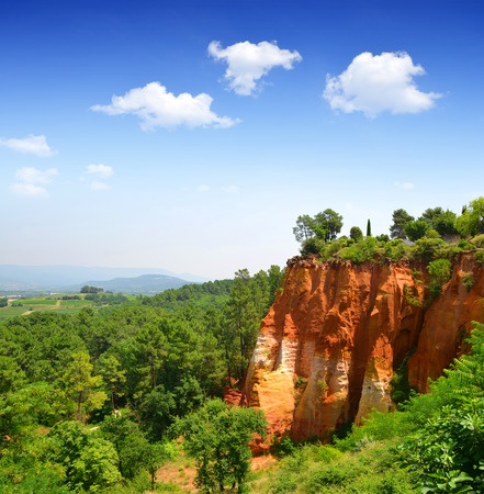 roussillon: Red Cliffs in Roussillon, Provence, France