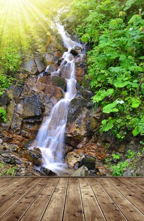 nant: Beautiful waterfall in the Swiss Alps