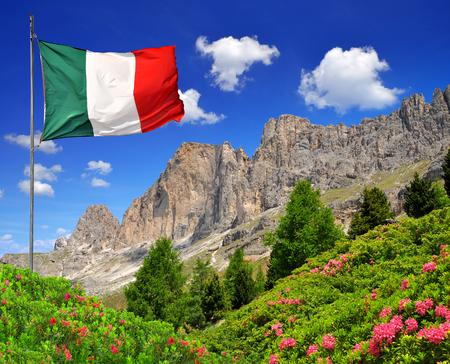 rosengarten: Dolomite peaks Rosengarten,Val di Fassa, Italy Alps