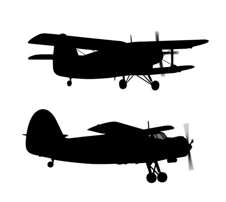 liftoff: silhouette engine airplane isolated on white background