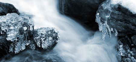 wintrily: Winter creek in the national park Sumava - Czech Republic