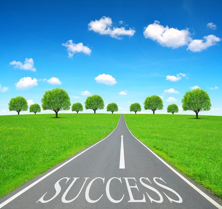 emty: Success writen on emty road.