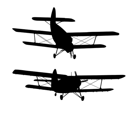 prop: silhouette engine airplane isolated on white background