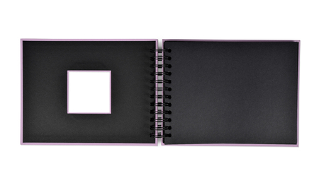 photo album: Open photo album isolated on white background