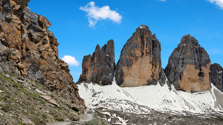 italien: Drei Zinnen or Tre Cime di Lavaredo - Sextener Dolomiten, South Tirol, Italien Alps