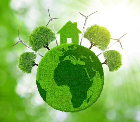 green eco: Green eco planet. Ecological concept.