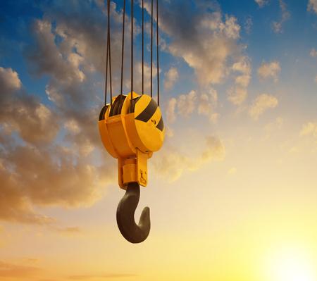 cranes: The big lifting hook at sunset